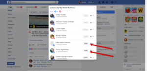 Invite facebook folks to like your fan page that like your posts