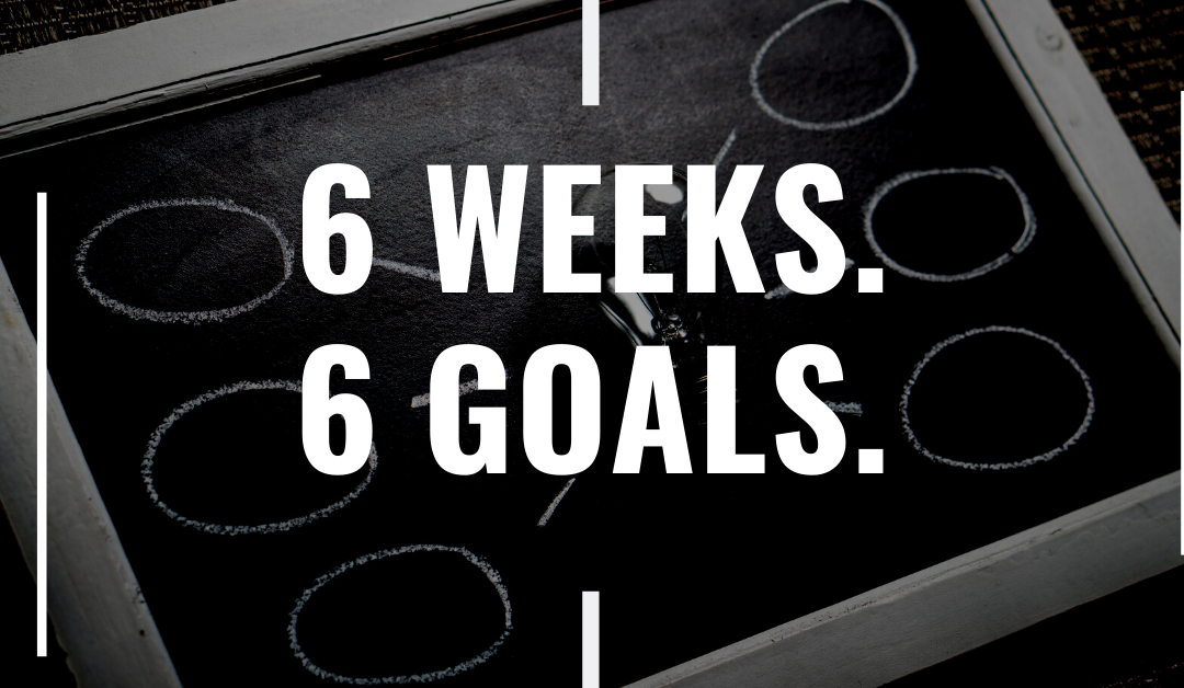 Goal Setting – How to Set Goals with 6 Weeks and 6 Goals