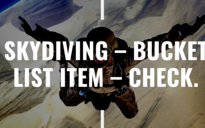 Skydiving – Bucket List Item – Check.