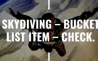 Skydiving – Bucket List Item – Check.