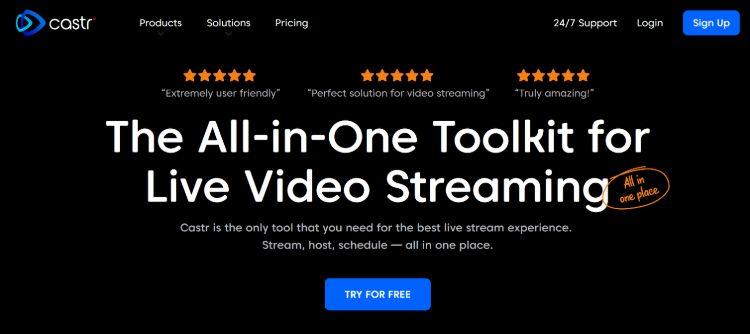 Castr - best live streaming platform