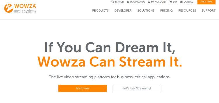 Wowza - best live streaming platform