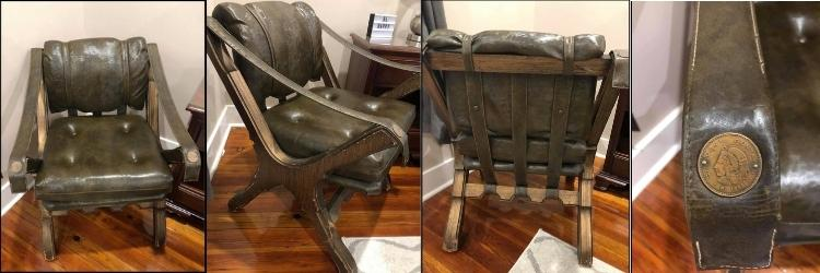 antique chair that I flipped for a profit