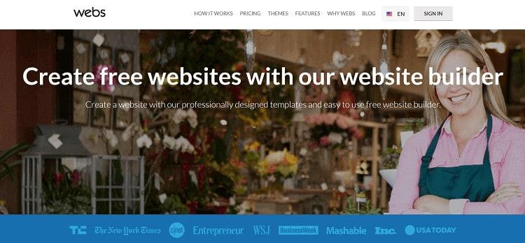 Webs Squarespace Alternatives