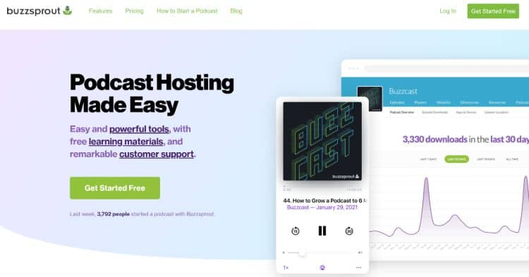 best podcast hosting companies - Buzzsprout