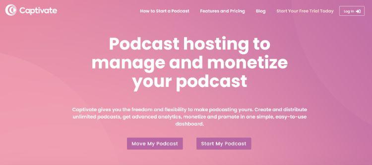 best podcast hosting companies - Captivate