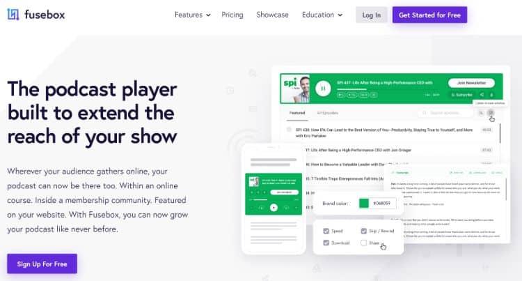 best podcast hosting companies - Fusebox