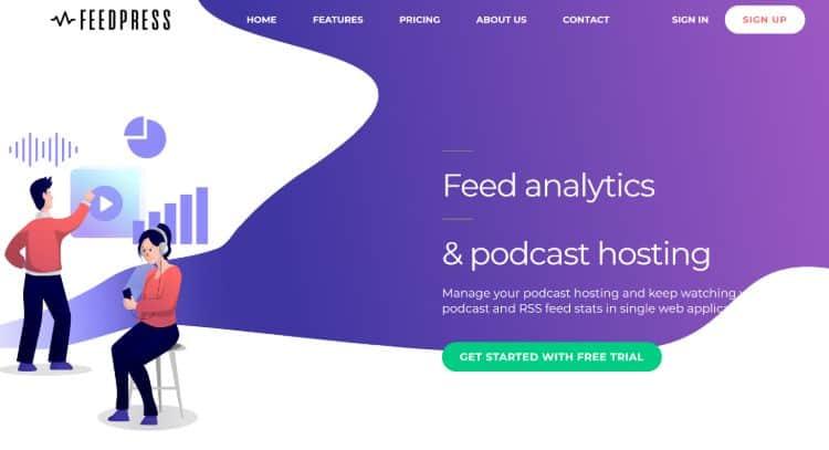best podcast hosting companies - FeedPress