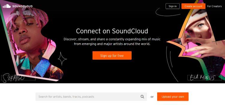 best podcast hosting companies - SoundCloud